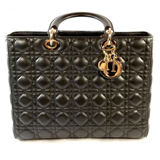 Grand Sac Lady Dior en Agneau Noir