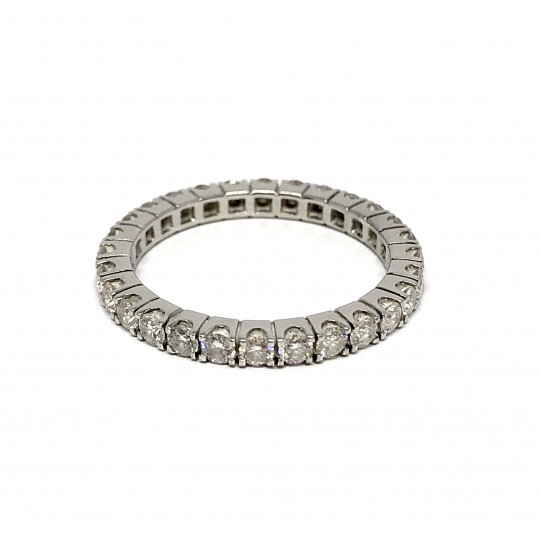 Bague Or Blanc 18k et Diamants