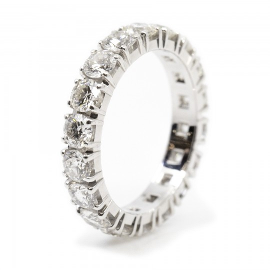 Bague Sertie 18 Diamants