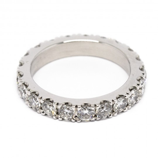 Bague Or Blanc 18k & Diamants