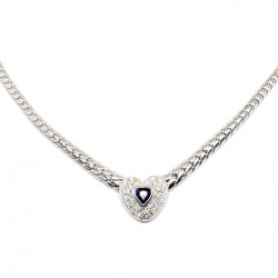 Collier Or Blanc 18k