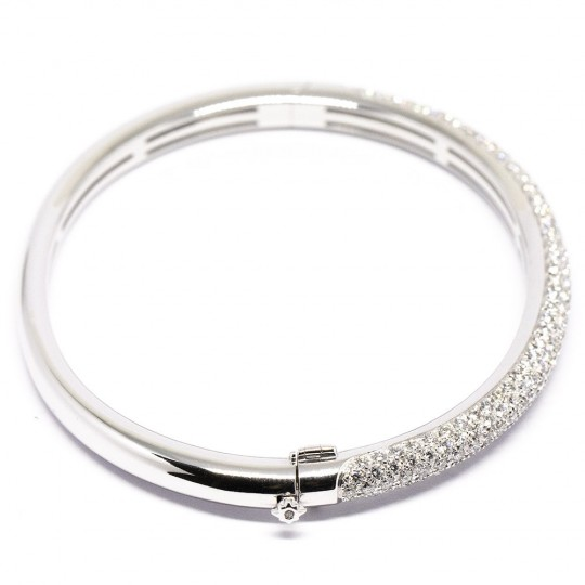 Bracelet Or Blanc 18K & Diamants