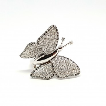 Bague Papillon Diamants