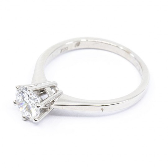 Solitaire Or Gris 18K