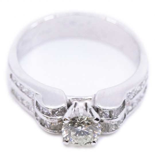 Bague Or 14K + Diamant 0,5 ct