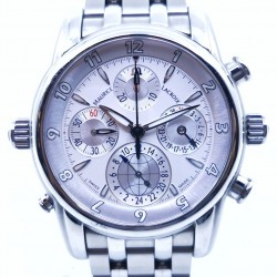 Maurice Lacroix Masterpiece Chronograph GMT Stainless Steel MP6398