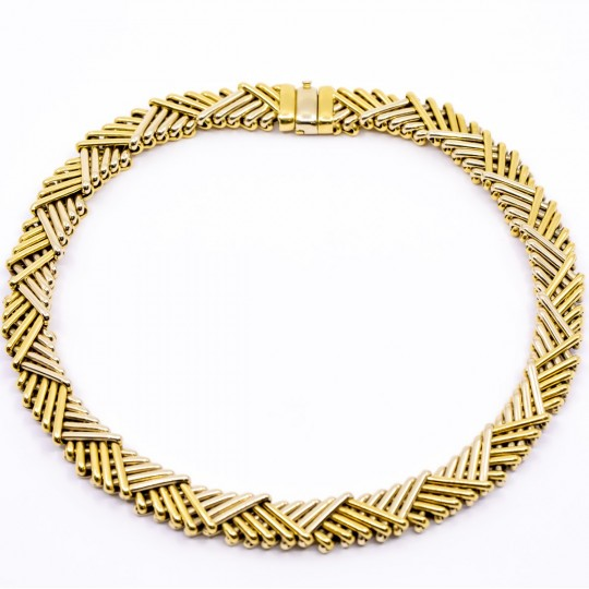 Collier Or Jaune et Blanc 18k